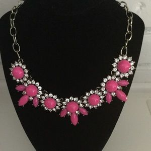 J. Crew chunky necklace hot pink
